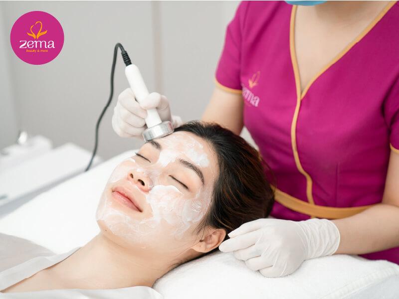Da trắng sáng hồng hào sau khi dùng dịch vụ tắm trắng hồng collagen X3