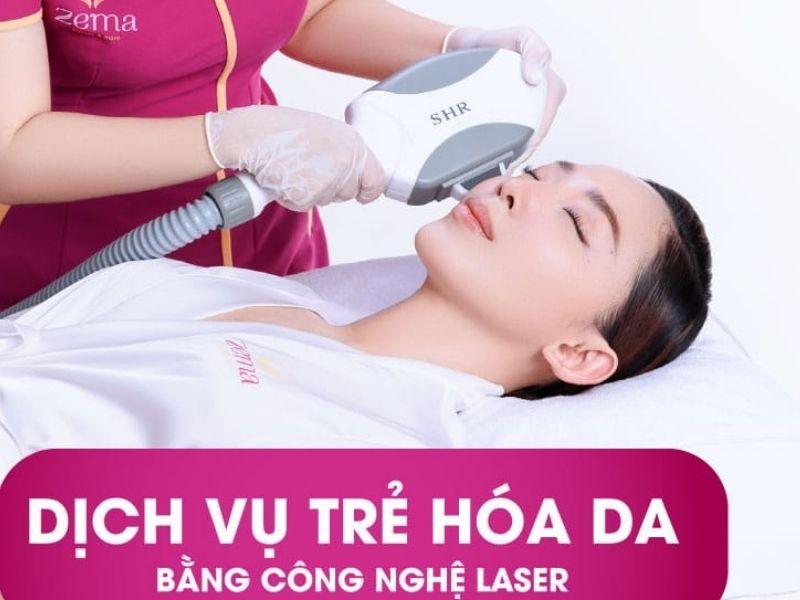 Dịch vụ laser trẻ hoá sáng mịn da tại Zema đang rất được yêu thích