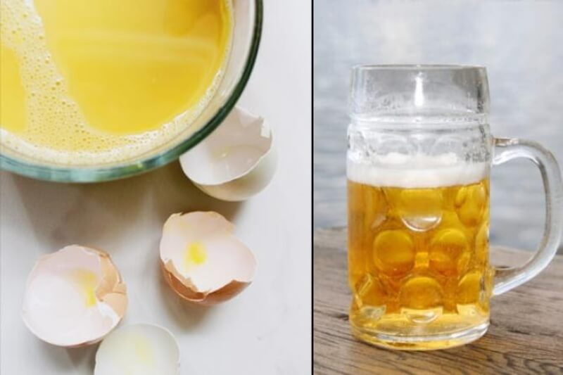 Cách trị mụn bằng bia và trứng gà
