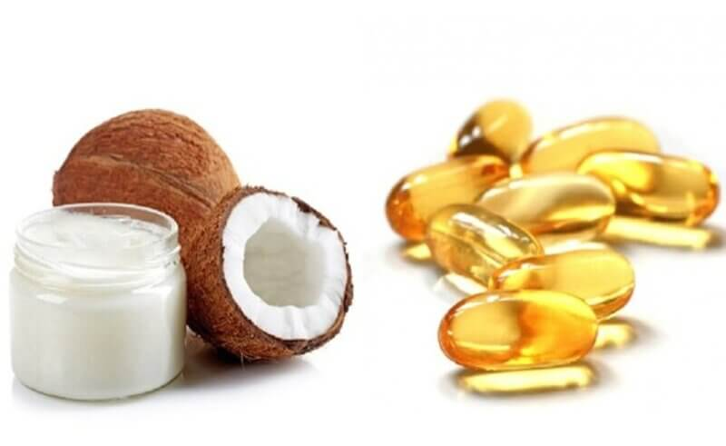 Vitamin e và dầu dừa trị mụn