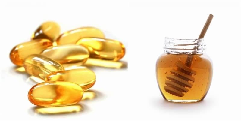 Vitamin e và mật ong giúp trị mụn