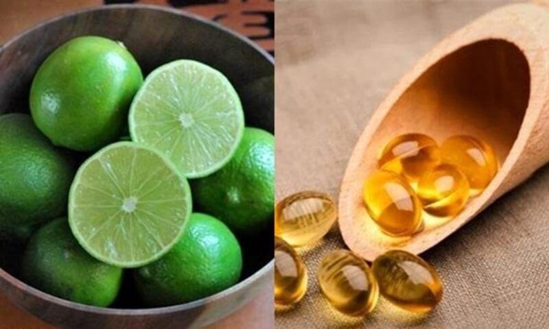 Trị mụn với vitamin e và chanh