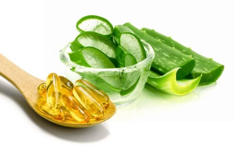 Trị mụn với nha đam kết hợp vitamin e